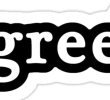 Greek - Hashtag - Black & White Sticker