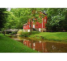 Wallace Cross Grist Mill Reflection Photographic Print