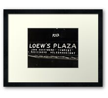 Nelson & Knight at Loew's Plaza Framed Print