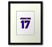 National Hockey player Eddie Johnstone jersey 17 Framed Print