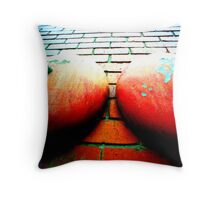 alarming breasts Throw Pillow