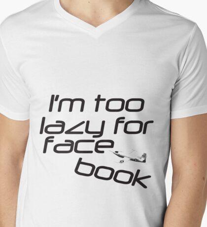 Facebook... who has time? Mens V-Neck T-Shirt
