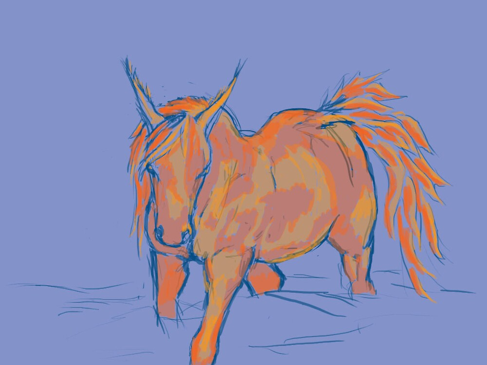 Conept Sketch of horse in fog/water by ThaloRyder