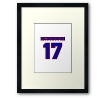 National Hockey player Al McDonough jersey 17 Framed Print