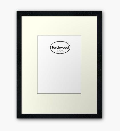 Torchwood Euro  Framed Print