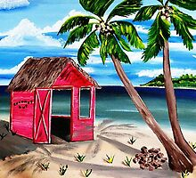 Pink CoCoNut Hut by WhiteDove Studio kj gordon