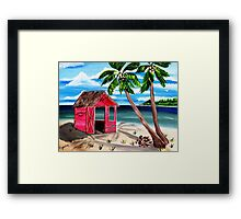 Pink CoCoNut Hut Framed Print