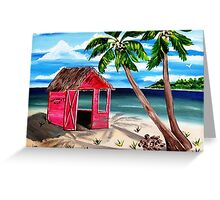 Pink CoCoNut Hut Greeting Card