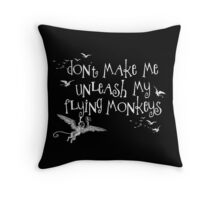Wizard of Oz Inspired - Don't Make Me Release My Flying Monkeys - Chalkboard Art - Parody Throw Pillow