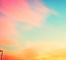 Rainbow sunset by Claire Prothero