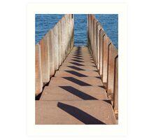 Boardwalk Shadows Art Print
