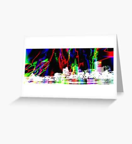 Memphis Magic Contemporary Art  Greeting Card