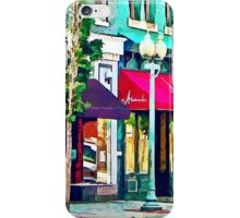 Roanoke VA Street With Restaurant iPhone Case/Skin