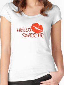 Hello Sweetie Women's Fitted Scoop T-Shirt