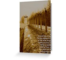 Dachau one Greeting Card
