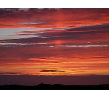 Sunset Tory Island, County Donegal, Ireland. Photographic Print