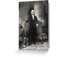 Portrait of George Washington Greeting Card