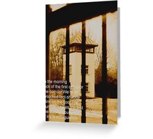 Dachau two Greeting Card