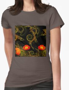 Decorative poppy Womens Fitted T-Shirt
