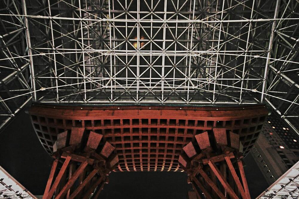 Ceiling structure - Kanazawa Train Station  by Trishy