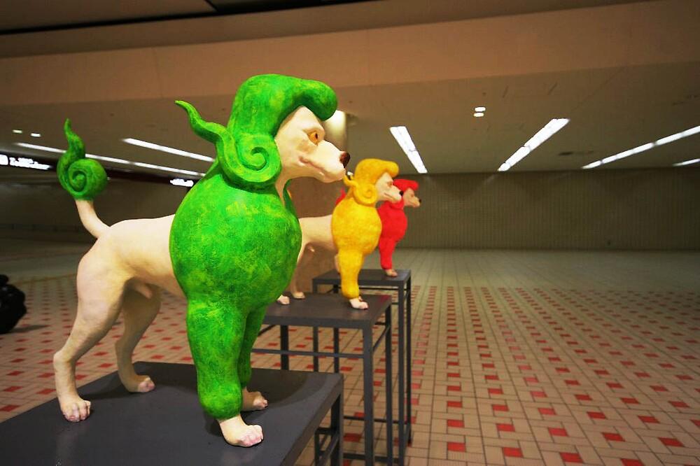 Modern Art Exhibit - Kanazawa Train station  by Trishy