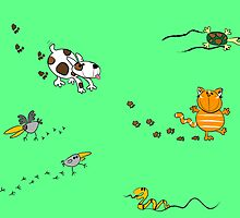 Animals and their tracks. by nimnochka