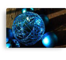 Shiny Blue Ball Canvas Print