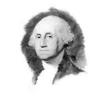 Portrait of George Washington Photographic Print
