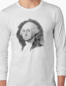 Portrait of George Washington Long Sleeve T-Shirt