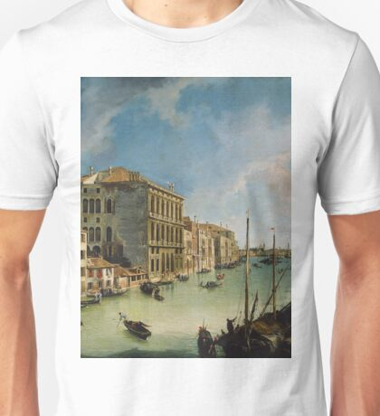 Canaletto - The Grand Canal From San Vio, Venice Unisex T-Shirt