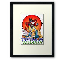 Optimus Prime Zombie Framed Print