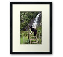 """Is this my best side?"" Framed Print"