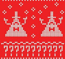 Bill Cipher Ugly Xmas Sweater--White by taxdollars
