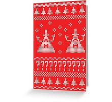 Bill Cipher Ugly Xmas Sweater--White Greeting Card