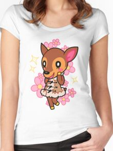 Fauna of Animal Crossing New Leaf Women's Fitted Scoop T-Shirt