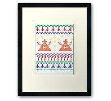 Bill Cipher Ugly Xmas Sweater--Color Framed Print