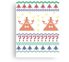 Bill Cipher Ugly Xmas Sweater--Color Canvas Print
