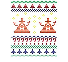 Bill Cipher Ugly Xmas Sweater--Color Photographic Print