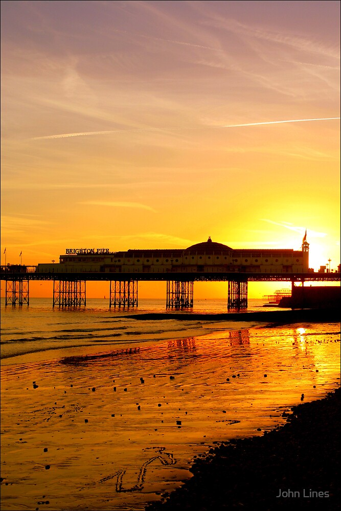Brighton Sunset by John Lines