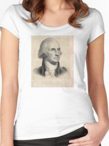 Portrait of George Washington Women's Fitted Scoop T-Shirt