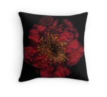 Deep red flower Throw Pillow