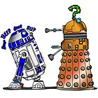 R2D2 meets a Dalek by Skree