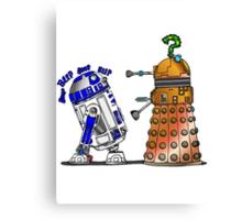 R2D2 meets a Dalek Canvas Print