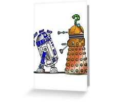 R2D2 meets a Dalek Greeting Card