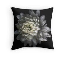 White Carnation Throw Pillow