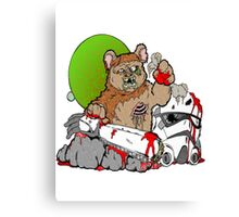Zombie Ewok Canvas Print