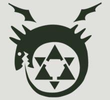 Fullmetal Alchemist O(u)roboros Homunculus Logo Green by MRDordtenaar