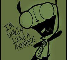 Dancin' Like A Monkey! by OddworldArt