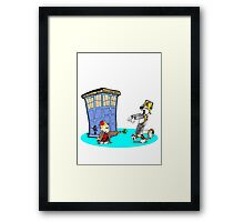 Calvin and Hobbes Doctor Who Framed Print