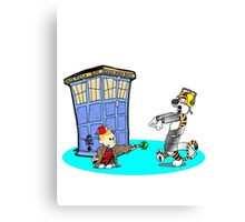 Calvin and Hobbes Doctor Who Canvas Print